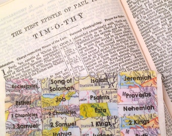 "CATHOLIC Antique ""Historic Maps"" Books of Bible Tabs by Victoria Anderson"