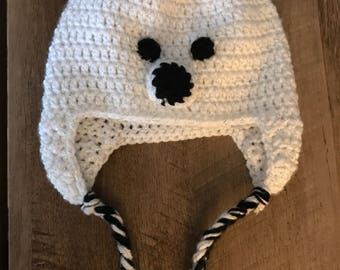 Crocheted Polar bear hat