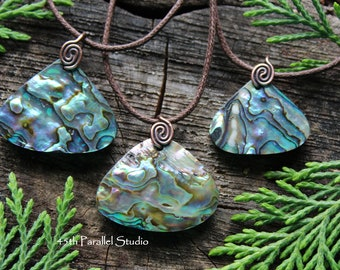 Australian Abalone Necklace, Abalone Necklace, Abalone Jewelry, Abalone Pendant, Abalone Shell, Shell Necklace, Shell Jewelry, Surf Jewelry