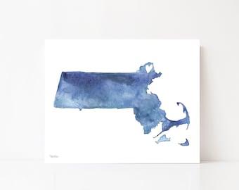Newburyport Massachusetts Art, Newburyport Decor, Blue Watercolor, Newburyport Art, New England Art, Newburyport Map, Wall Art, Art Print