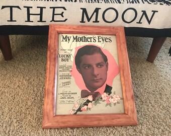 My Mother's Eye's Antique Custom Frame