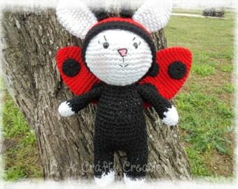 Ladybug, Ladybug Bunny, Crochet Ladybug, Amigurumi Ladybug, Easter Bunny, Bunny, Easter Rabbit, Easter,