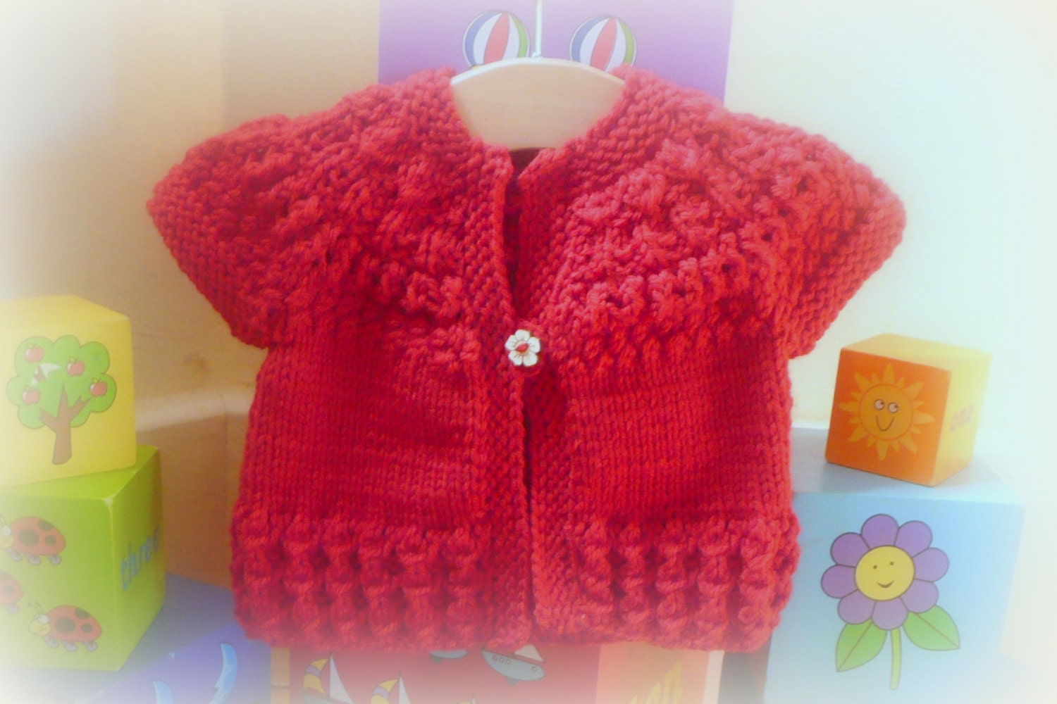 Knitting pattern seamless top down baby girl cardigan jacket zoom bankloansurffo Image collections