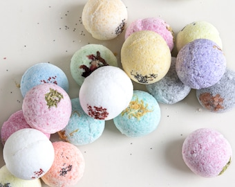 24 Natural Bath Bombs! Bulk Bath Fizzies for baby shower, Bath bombs the Best Favor Gifts or Party Favors! Bath Bombs for bridal shower