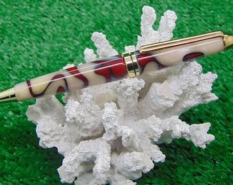 Handmade European style ballpoint pen in acrylic