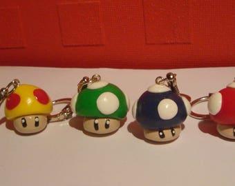 key for mini mushroom fimo clay polymer accessory