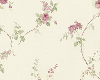 Small Pink Floral Print Wallpaper