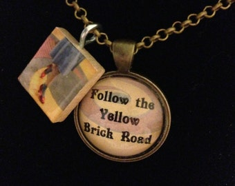 Follow The Yellow Brick Road Wizard Of Oz Necklace