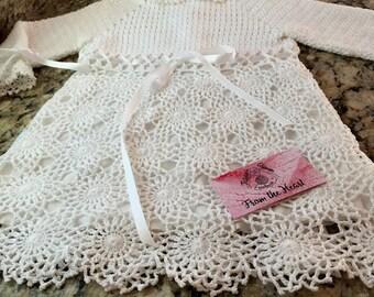 A crocheted dress