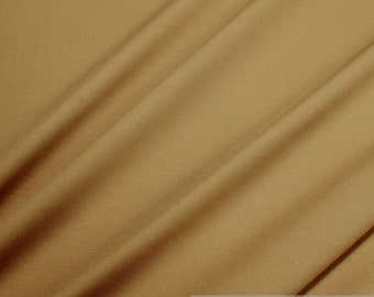 Fabric polyester cotton twill mocca blended fabric easy - care brown
