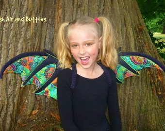 Dragon wings pattern, MotherGrimm PDF pattern & tutorial, children dress up play and fantasy, ages 3-15, Instant download, sewing