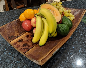 Fruit Bowl made from Red Wine Barrel staves