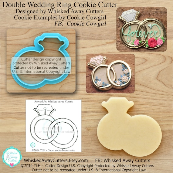 Double Wedding Ring Cookie Cutter and Fondant Cutter
