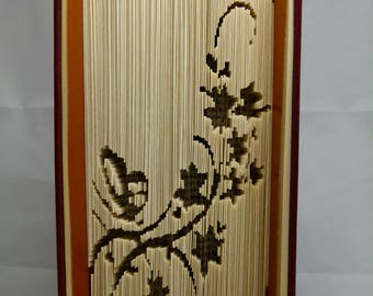 """Carving book """"as a butterfly on a branch"""""""