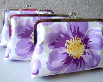 Lavander Lilac Flower gift bag Clutch by Lolis Creation