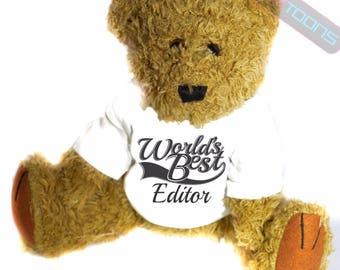 Editor thank you gift teddy bear