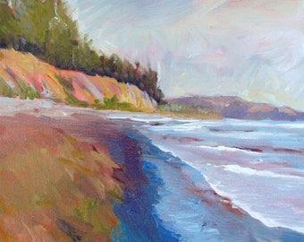 Beach print, Beach canvas art, Goleta Beach,beach decor, beach painting, ocean canvas print,, Santa Barbara art, Goleta Beach art,