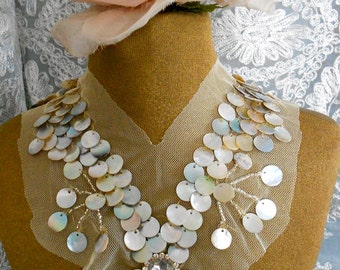 Shell Beaded Appliques
