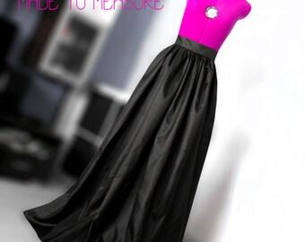 Black taffeta skirt Ball gown skirt Bridesmaid's skirt Wedding skirt Custom made skirt Maxi skirt Long Evening skirt  Floor lenght skirt