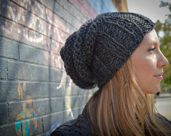 Slouchy Beanie, Slouchy Hat, Tam Hat, Slouchy Beret, Beehive Beanie, Chunky Knit Hat, Hipster Beanie, Winter Hat, Slouchy Women's Hat