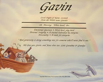 Noah's Ark Name Meaning Print