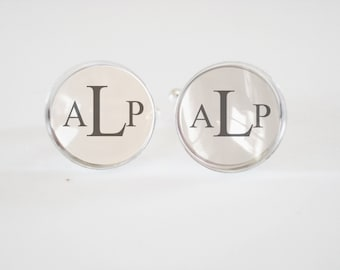 Custom Monogrammed Cufflinks - personalized mens cufflinks -personalized mens gifts - cuff links - weddings-  mens accessories - mens gifts