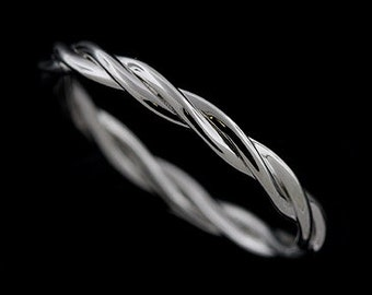 Twisted Wedding Band, Infinity Wedding Band, Intertwined Ring, Braided Wedding Ring, Love Knot Band, Eternity Women's Gold Wedding Ring