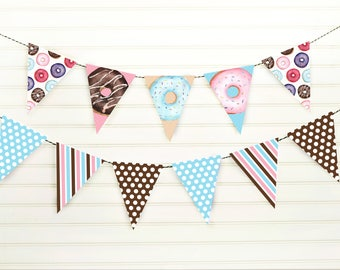Donut Banner - Donut Party - Donut Birthday - Doughnut Banner - Doughnut Party - Donut Pennant - Doughnut Decorations - Donut Printable -