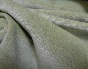 """54"""" Wide Plush Avocado Green Cotton Upholstery Chenille Fabric for Chairs Cushions Settees Bench Headboard Couch Ottoman Pillows STE"""