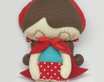Felt Doll - Little Red Riding Hood