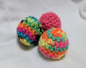 Neon Jingle Ball Cat Toys- Set of 3