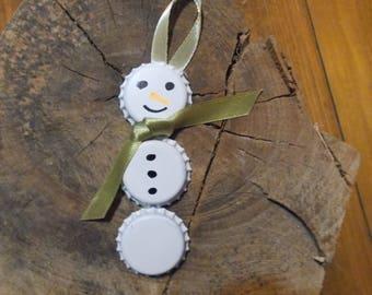 Cap ornaments, snowman