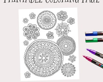 Adult coloring book | Etsy