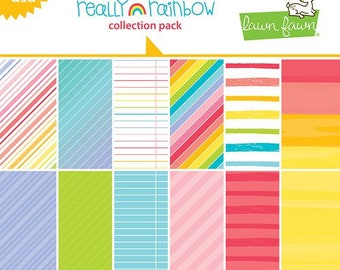 Lawn Fawn - Really Rainbow Collection - 12 x 12 Collection Pack