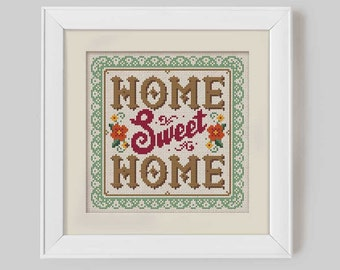 Home Sweet Home - Cross Stitch Pattern (Digital Format - PDF)