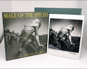 Rare Arthur Tress Male Of The Species Ltd First Ed Boxed Signed Book & Photograph
