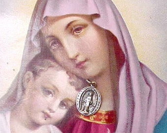 Sweet Little Vintage Miraculous Mary Medal