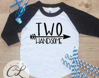 Birthday Boy Shirt / Baby Boy Clothes 2 Year Old Outfit Second Birthday TShirt 2nd Birthday Boy Outfit Party Two Handsome Raglan Toddler 248