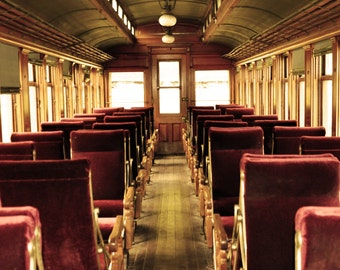 Inside The Old Train 8x10 glossy print