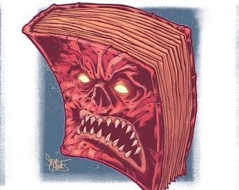 NECRONOMICON EX MORTIS - Monster Head Print