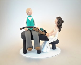 Pianist & Violinist Customized Wedding Cake Topper