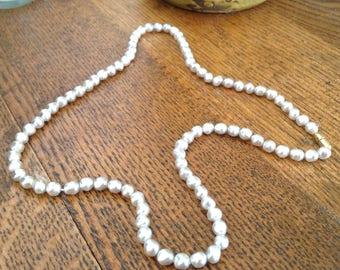 Faux Pearl Necklace.  Cream