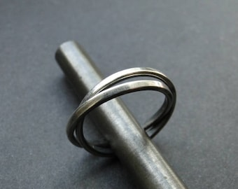 Double band ring,double ring,silver double ring