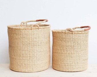 Natural Bolga Laundry Basket without lid