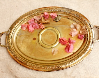 Serving plate, Platter, Vintage Platter, Silver tray, Oval Platter, Wedding Tray, Vintage patina, Card Tray, Silver Plated tray, Dining