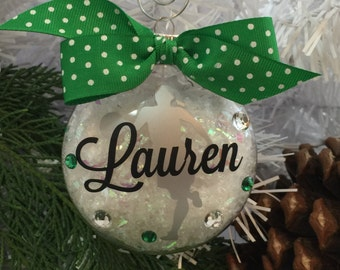 Basketball Girl Ornament, Personalized, Monogrammed