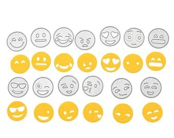 Emoji Die Cut Template Set