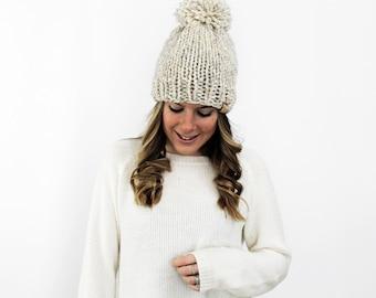 Chunky Knitted Hat Beanie Wheat- Pokomoke Hat