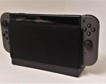 Nintendo Switch Black Dock Sock Cozy Microfiber Protector