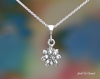 Sterling Silver Poinsettia or Edelweiss Necklace or Pendant Only .925